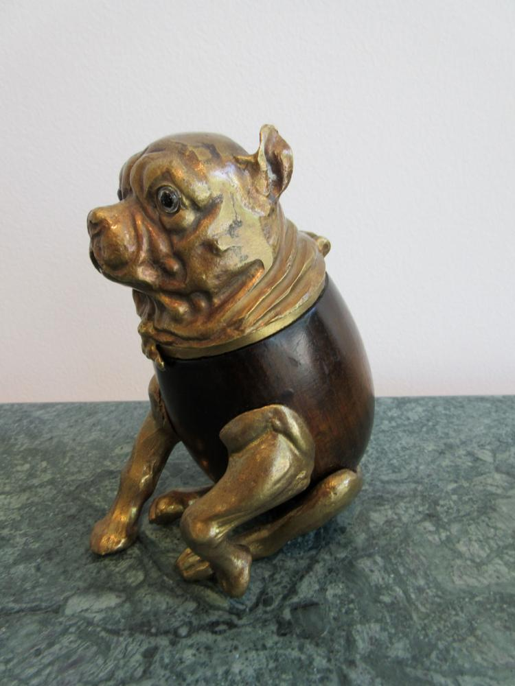 Signed brass arthur court bull dog humidor box for Asian antiques west palm beach