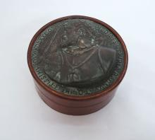 Vintage Leather Italian Coin Box