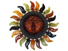 Vintage Erik Hoglund Sun Face Wall Light