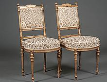 PAIR OF LOUIS XVI STYLE GILTWOOD BALLROOM CHAIRS