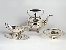 GROUP OF THREE SILVER PLATED ARTICLES