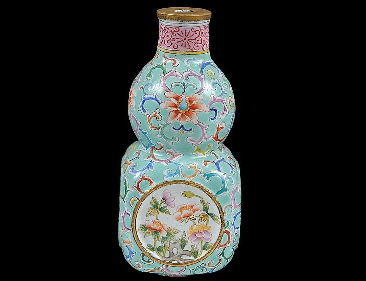 Delicate miniature enamel vase for Asian antiques west palm beach
