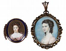 MINIATURE PAINTING OF HENRIETTA, DUCHESS OF MARLBOROUGH