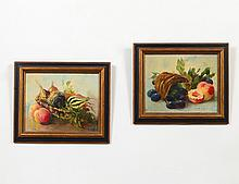 TWO OILS ON CANVASBOARD (20th Century)