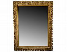 CONTINENTAL GILT WOOD AND COMPOSITION MIRROR