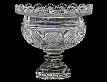 ENGLISH CUT GLASS FOOTED BOWL