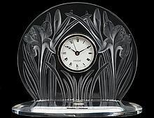 LALIQUE CRYSTAL CLOCK