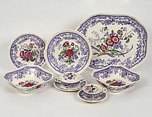 EARTHENWARE FIFTY-TWO PIECE PART DINNER SERVICE