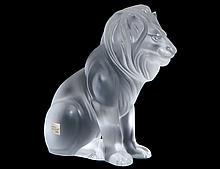 LALIQUE CRYSTAL BAMARA LION