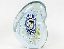 CONTEMPORARY COLORLESS GLASS ASYMETRICAL ORB