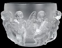 LALIQUE CRYSTAL LUXEMBOURG CHERUB BOWL