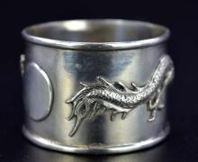 Lot 52: CHINESE EXPORT SILVER NAPKIN RING