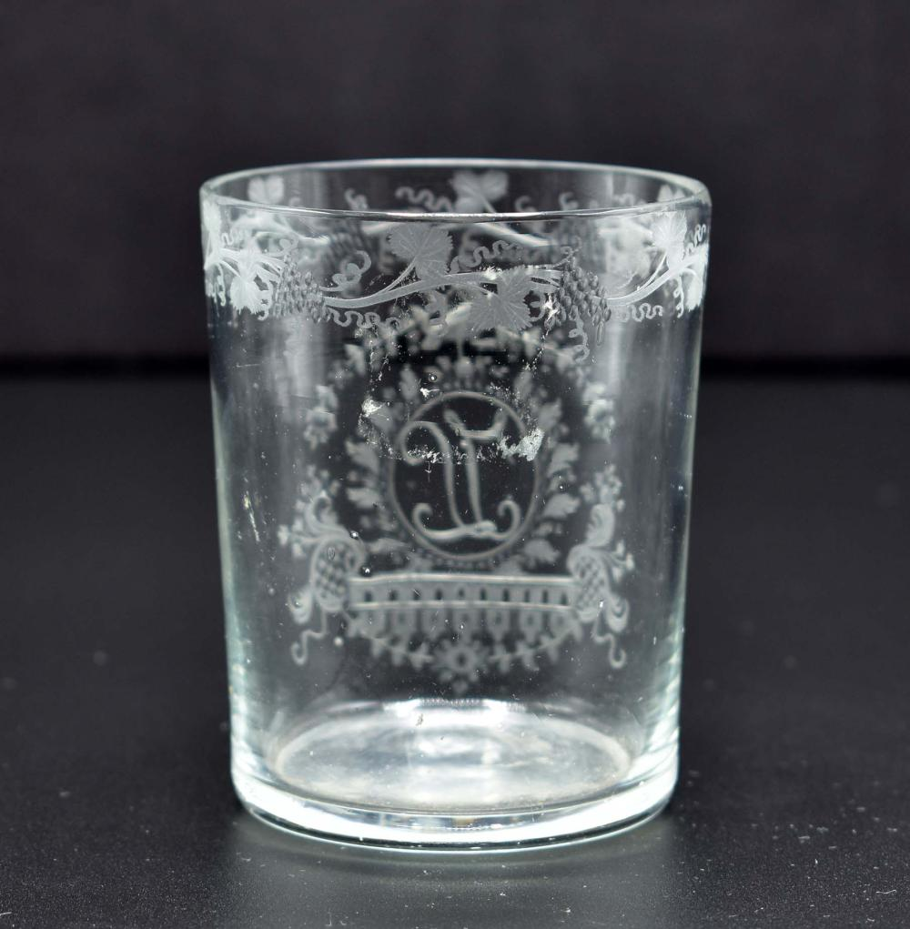 Lot 81: TWO GERMAN COLORLESS GLASS BEAKERS