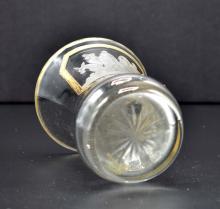 Lot 85: BOHEMIAN ENGRAVED SLAVE TRADER GLASS BEAKER