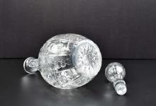 Lot 141: ENGLISH ENGRAVED ROCK CRYSTAL DECANTER W/STOPPER
