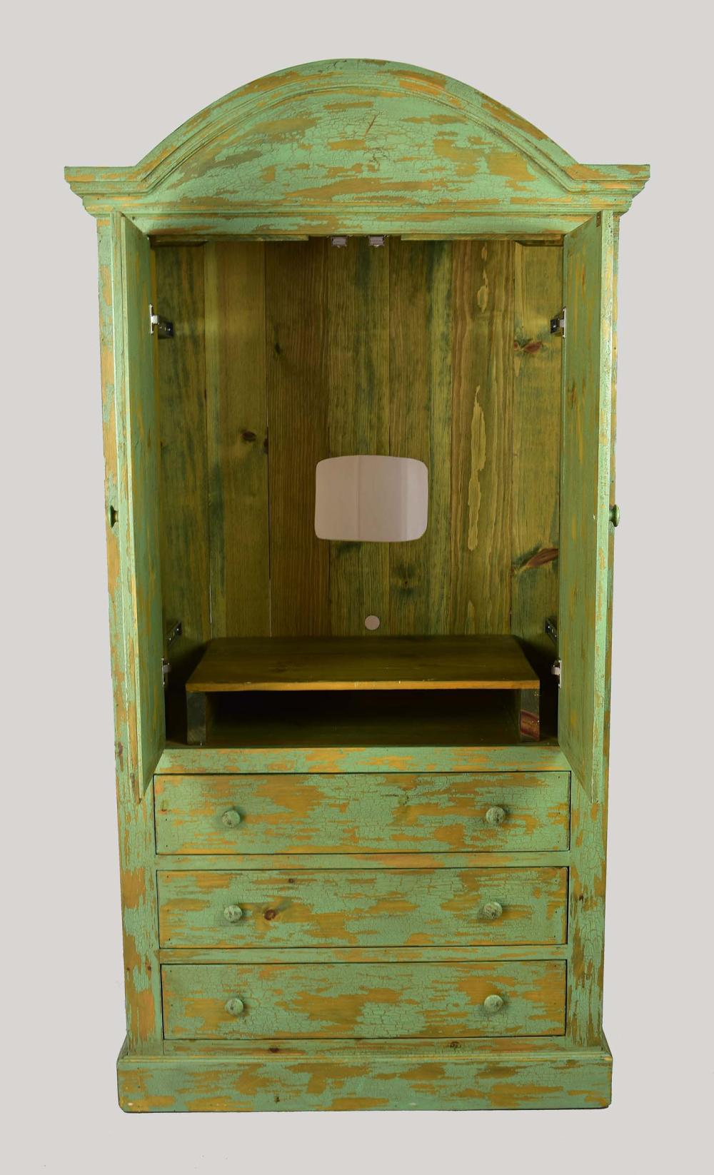 Lot 103: NEW MEXICAN STYLE PAINTED ARMOIRE