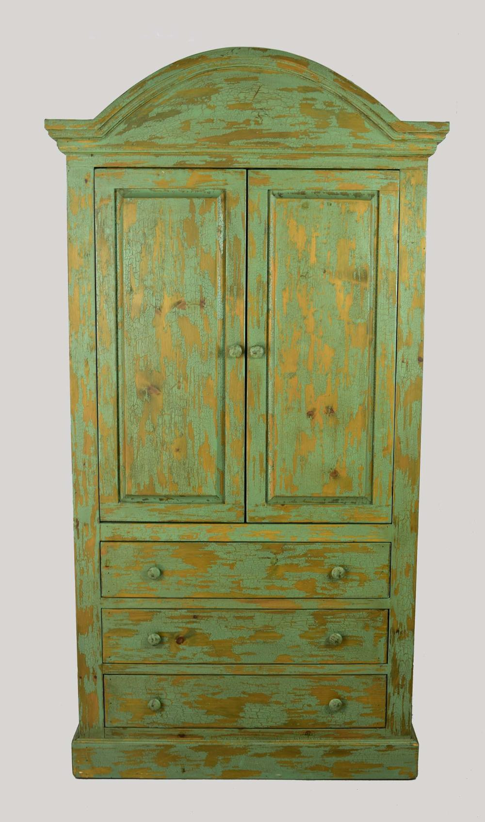 NEW MEXICAN STYLE PAINTED ARMOIRE