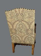 Lot 104: PAIR OF BAROQUE STYLE WALNUT ARMCHAIRS