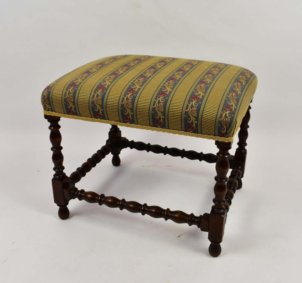 BAROQUE STYLE WALNUT STOOL