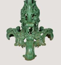 Lot 108: VICTORIAN GREEN PAINTED CAST IRON CIRCULAR TABLE