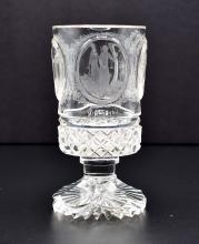 Lot 113: BOHEMIAN CUT COLORLESS GLASS GOBLET