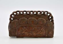 Lot 120: JAPANESE WOOD CARVED INRO