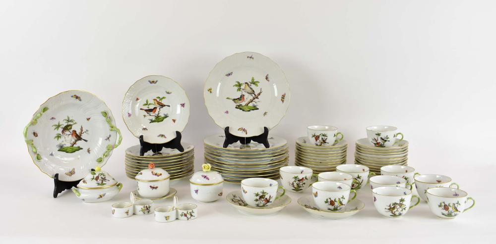 HEREND ROTHCHILD BIRD PORCELAIN DINNER SERVICE