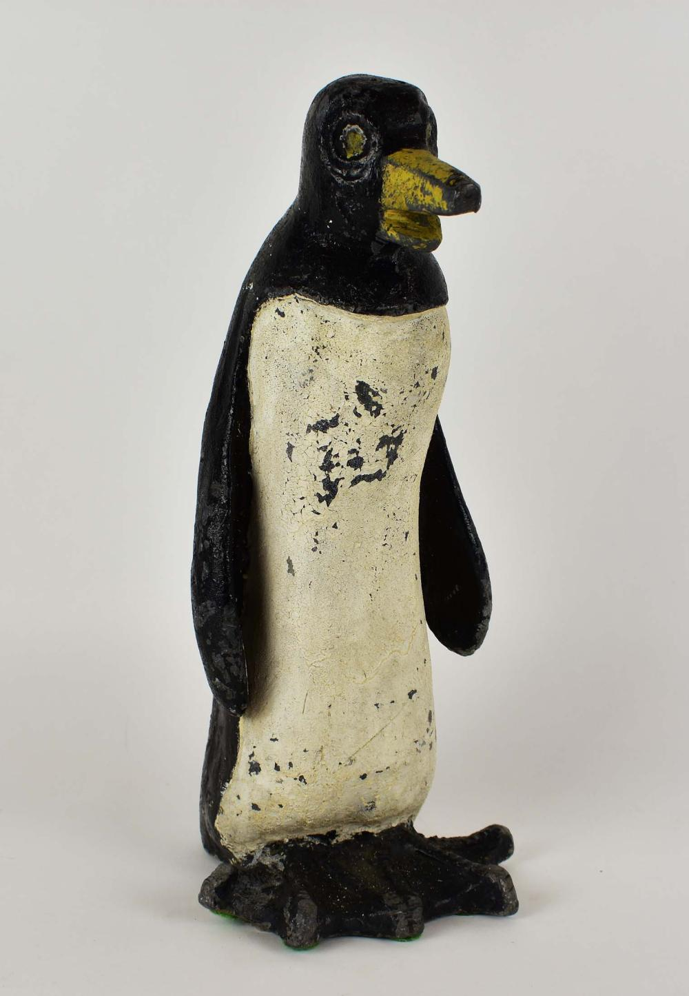 VINTAGE PAINTED LEAD PENGUIN