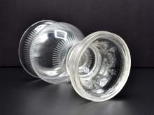 Lot 204: FINE PAIR OF REGENCY ENGRAVED COLORLESS GLASS URNS