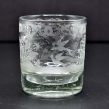 Lot 227: EARLY FRENCH ENGRAVED COLORLESS GLASS BEAKER