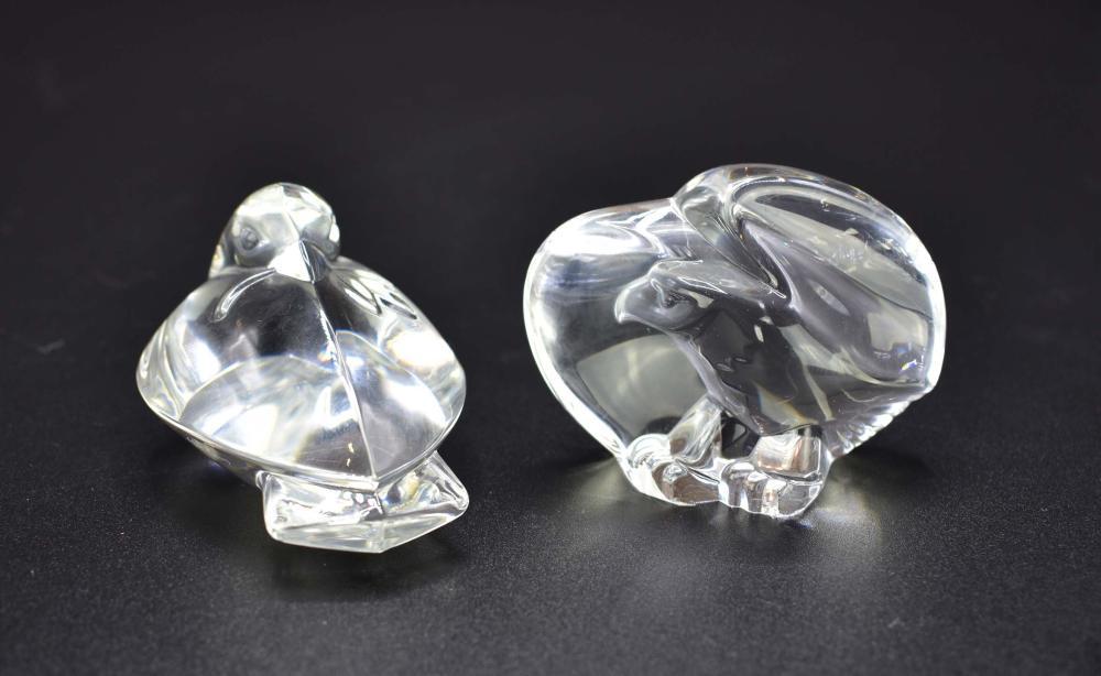 Lot 232: SIX STEUBEN COLORLESS GLASS ANIMALS