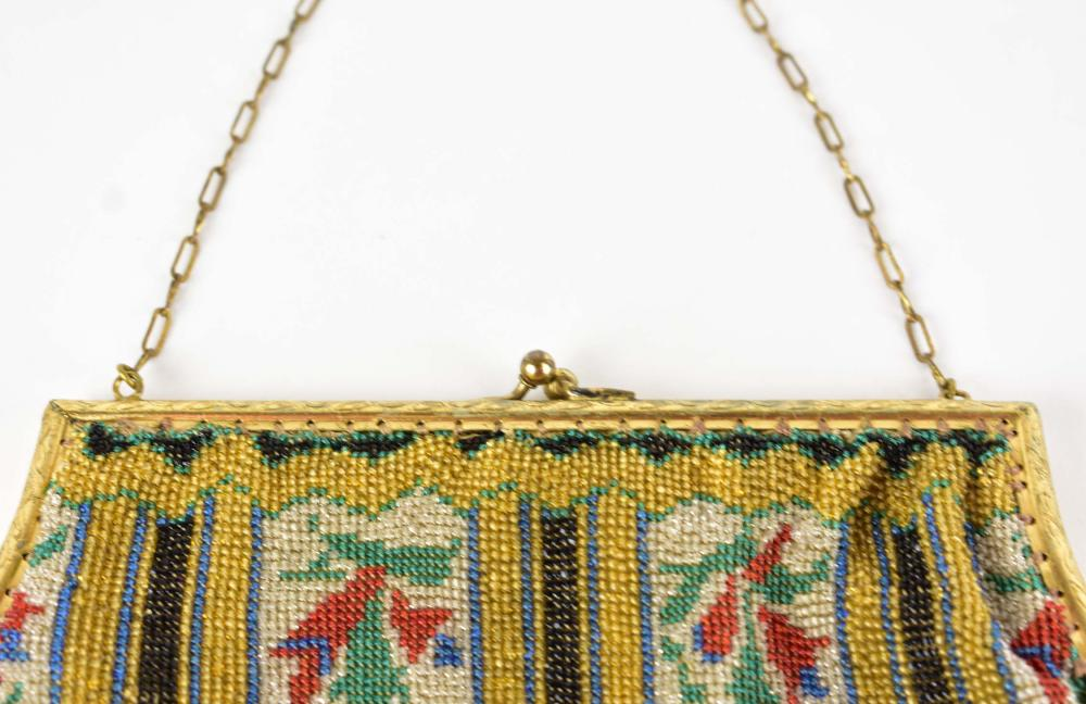 Lot 235: TWO FRENCH 1920'S GLASS MICRO-BEAD PURSES