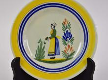 Lot 238: THIRTY HENRIOT QUIMPER EARTHENWARE TABLE ITEMS