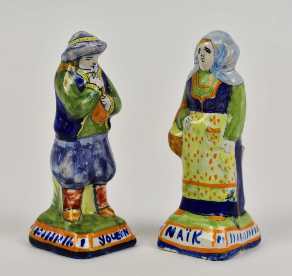 Lot 241: SEVEN QUIMPER EARTHENWARE TABLE ITEMS