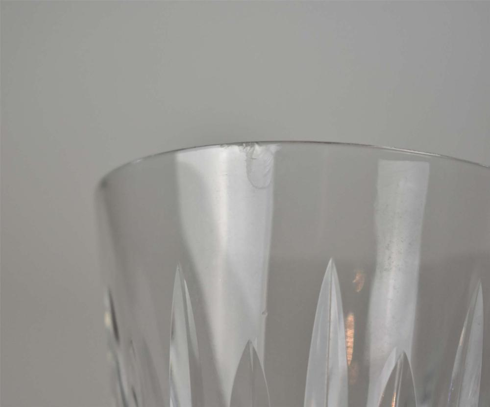 Lot 252: SET OF TWELVE WATERFORD CUT GLASS WATER GOBLETS
