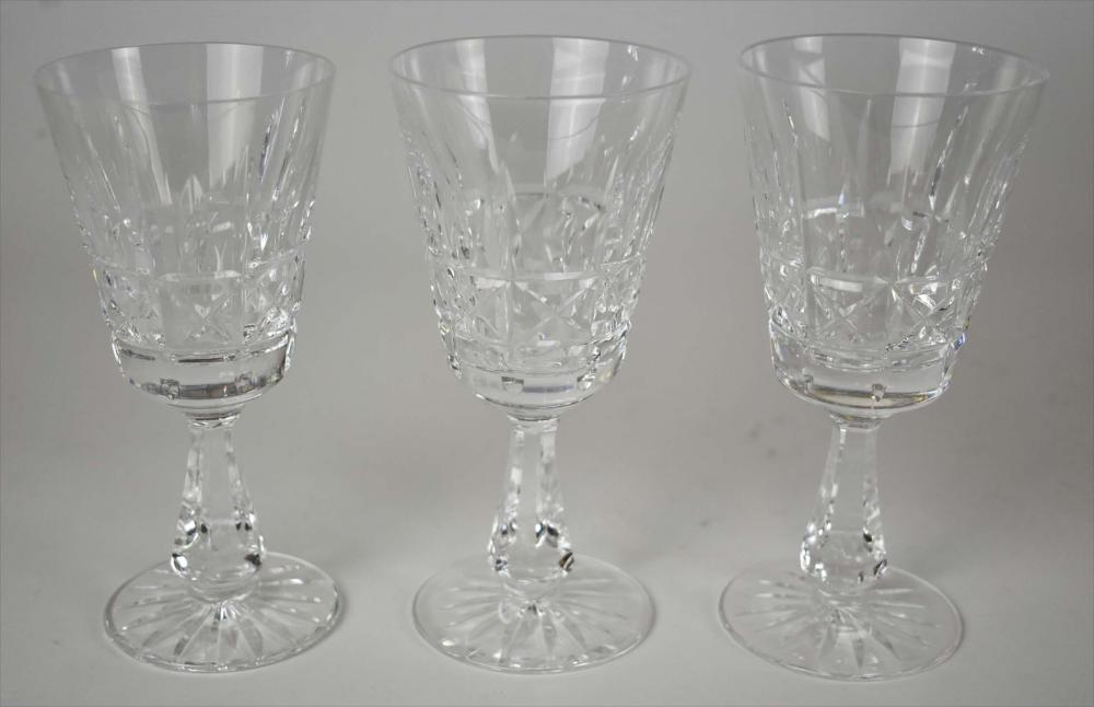 Lot 254: SET OF TWELVE WATERFORD CUT GLASS RED WINES