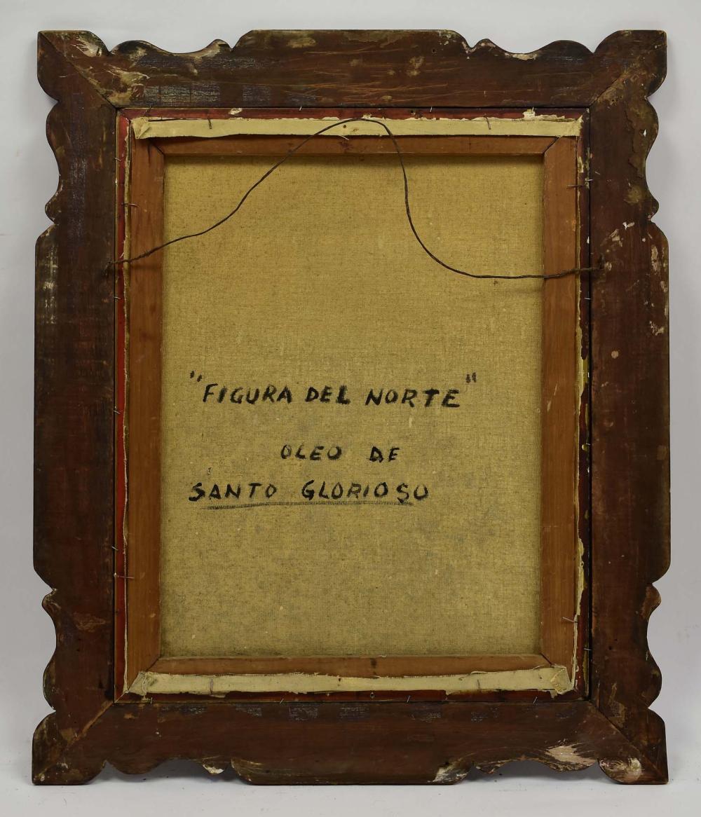Lot 274: SANTO GLORIOSO PAINTING