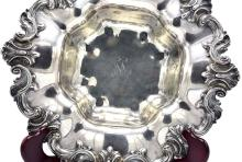 Lot 16: AMERICAN ROCOCO STYLE STERLING SILVER FRUIT BOWL