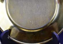 Lot 70: SET OF TEN AMERICAN GILT STERLING SMALL CIRCULAR PLATES