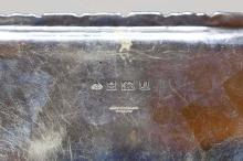 Lot 71: STERLING SILVER RECTANGULAR TRAY