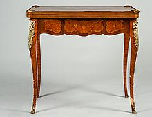 LOUIS XV STYLE INLAID MAHOGANY GAME TABLE