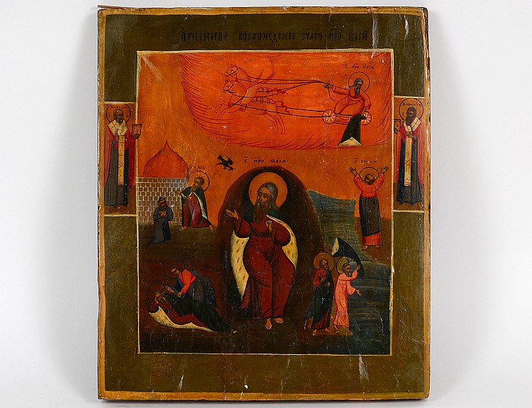 AN ANTIQUE RUSSIAN ICON