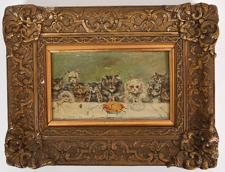 LATE 19th/EARLY 20th CENTURY OIL ON BOARD PAINTING