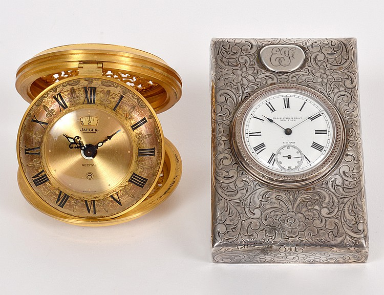 TWO SMALL TRAVELING CLOCKS