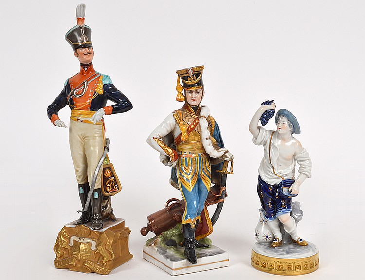 THREE CONTINENTAL PORCELAIN FIGURES