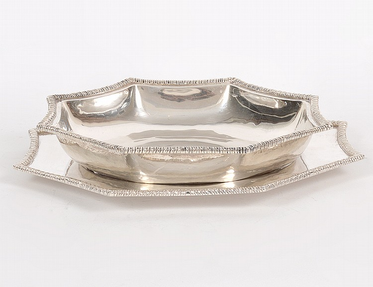 MEXICAN ORTEGA STERLING SILVER BOWL AND TRAY