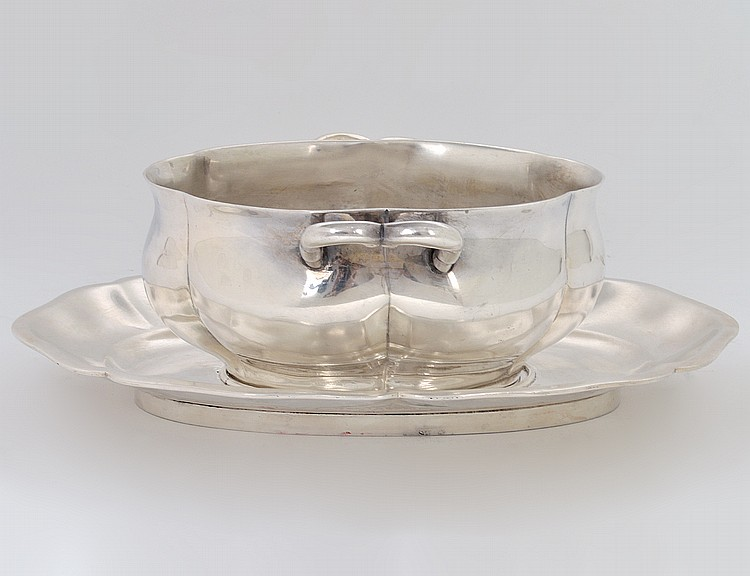 MEXICAN SANBORNE STERLING SILVER SAUCE BOWL & UNDER PLATE
