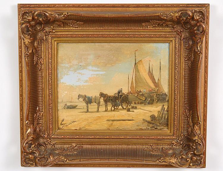 ATTRIB. TO ABRAHAM VAN DER WAYAN PIETERSZEN (Dutch. 1817-1880)