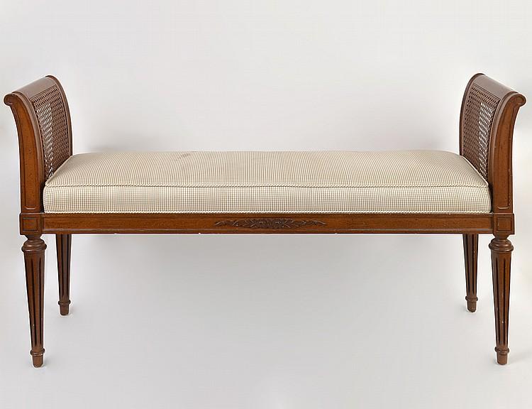 LOUIS XVI STYLE MAHOGANY WINDOW SEAT