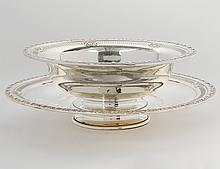 STELRING SILVER BOWL AND UNDERPLATE